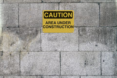 Area Under Construction Stock Photography