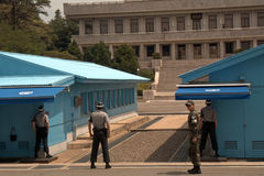 Area unita di sicurezza, Panmunjon, Repubblica coreana Immagine Stock