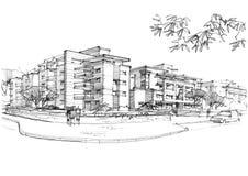 Area urbana in una zona residenziale Fotografia Stock Libera da Diritti