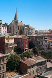 Area of Valparaiso, Chile. Viewed on Cerro Concepcion, Valparaiso historic World Heritage of UNESCO Stock Photography