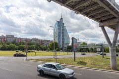 Area vicino all'hotel di miraggio nel bulgaro Burgas Fotografia Stock Libera da Diritti