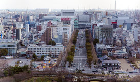 Area view on the a modern Iwakuni city Royalty Free Stock Photos