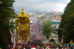 Area view on top the batu cave temple Royalty Free Stock Photos