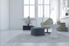 Area vivente moderna minimalista illustrazione di stock