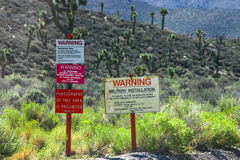 Area 51 Warning Signs Royalty Free Stock Photos