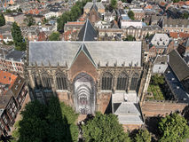 Areal of the city of Utrecht in the Netherlands Stock Image
