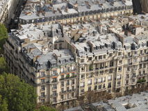 Areal image Paris Royalty Free Stock Photo