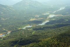 Areal landscape. Areal view of Green landscape royalty free stock photos