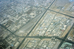 Areal map. Areal view from the sky Royalty Free Stock Photography