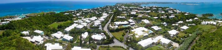 Areal Panoramic view of Bermuda stock photo