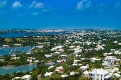 Areal Panoramic view of Bermuda royalty free stock image