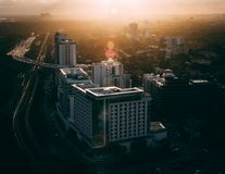 Areal Photography of High-rise Buildings Stock Photography