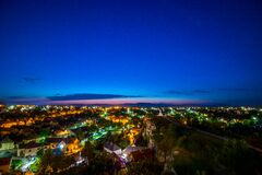 Areal Photography of House during Night Time Stock Image