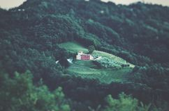 Areal Photography of White Building Surrounded by Forest Stock Images