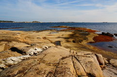 Areal sikt på fjorden, Norge Royaltyfri Fotografi