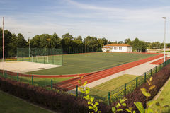Areal of the Sportschule in Werdau, Germany, 2015 Royalty Free Stock Photography