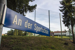 Areal of the Sportschule in Werdau, Germany, 2015 Royalty Free Stock Photo