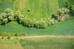 Areal view. Of a cultivation in Macedonia from a helicopter Stock Photography