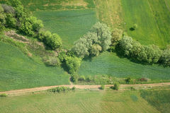 Areal view. Of a cultivation in Macedonia from a helicopter Stock Image