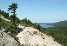 Areal view at Acadia National Park, Maine Stock Photos