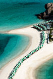 Areal view of beach Royalty Free Stock Photos