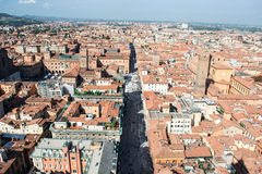 Areal view of Bologna stock photography