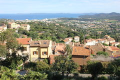 Areal View of Bormes Les Mimosas, France Stock Photo