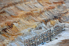 Areal view of brown coal mine. Areal view of the brown coal mine in Garzweiler, germany stock images