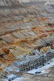 Areal view of brown coal mine. Areal view of the brown coal mine in Garzweiler, germany royalty free stock photos