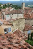 Areal view of Callian, France Royalty Free Stock Photography