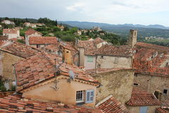 Areal view of Callian, France Royalty Free Stock Photo