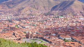 Areal view of Cuzco, Peru. stock video