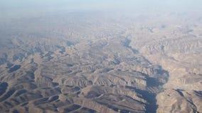 Areal view desert rocks stock video