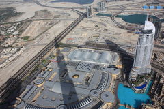 The areal view of the downtown Dubai Royalty Free Stock Photography