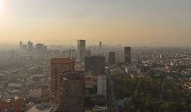 Areal view of the downtown Mexico capital city from Torre Latinoamericana stock photo