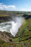 Areal view of of famous Gullfoss. Stock Photos