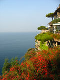 Areal view from famous Il San Pietro di Positano hotel Stock Images