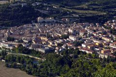 Areal view of Fossombrone Stock Photo