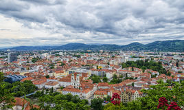 Areal View of Graz city Royalty Free Stock Photo