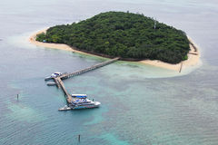 Areal view of Green Island, Great Barrier Reef, Australia Stock Image