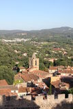 Areal view of Grimaud, France Royalty Free Stock Photo