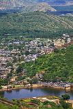 Jaipur Pink City. Areal view of Jaipur Pink City from Amber Fort,Rajasthan royalty free stock image