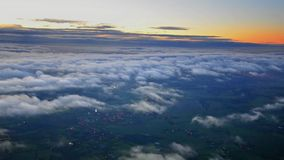 Areal view, London, sunrise stock video