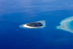 Areal view of Maldivian Atolls, Eden on Earth stock image
