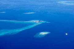 Areal view of Maldivian Atolls, Eden on Earth stock photos