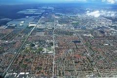 Areal view of Miami, Florida Stock Photo