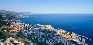 Areal view of monaco royalty free stock image
