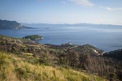 Free Areal View On Coastline Near Orebic, Croatia Stock Photography - 133722502