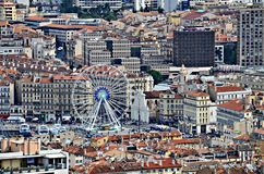 Areal View On Marseille, France. Royalty Free Stock Image