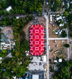 Areal view of one of the biggest stage at Sziget Festival in Budapest. Areal view of one of the biggest stage at Sziget Festival in Budapest, Hungary after the stock images